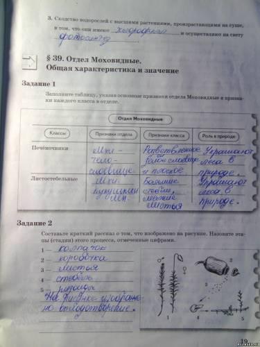 ГДЗ по биологии 7 класс учебник Сухорукова