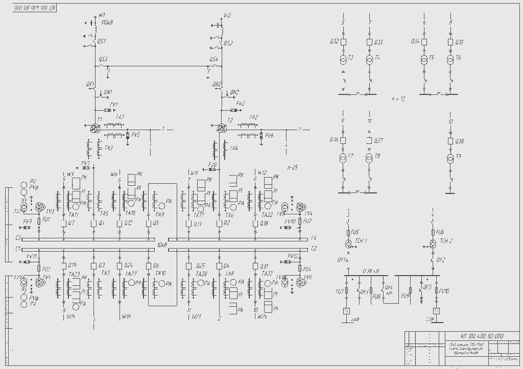 Схемы и подстанции