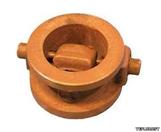 Клапан обратный поворотный однодисковый